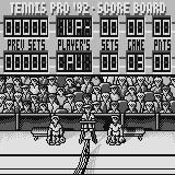 Tennis Pro '92 Supervision This screen shows the game progress between sets.