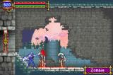 Castlevania: Aria of Sorrow Game Boy Advance Zombie fighting