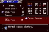 Castlevania: Aria of Sorrow Game Boy Advance Equipment