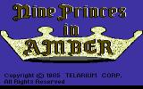 Nine Princes in Amber Commodore 64 Title screen