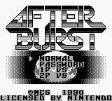 After Burst Game Boy Main menu