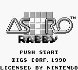 Astro Rabby Game Boy Title screen
