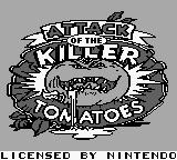 Attack of the Killer Tomatoes Game Boy Title screen