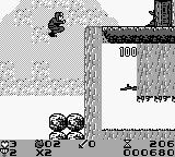 Attack of the Killer Tomatoes Game Boy Here we cut ourselves off the easy path because we destroyed the highest boulder by kicking it.