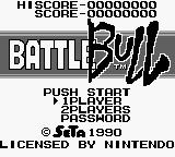 Battle Bull Game Boy Title screen