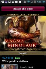 Legend of the Cryptids Android Boss Battle! The toasty Minotaur.