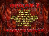 Bedlam 2: Absolute Bedlam DOS Main menu