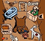 Billy Bob's Huntin'-n-Fishin' Game Boy Color Inside the hunting lodge.