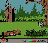 Billy Bob's Huntin'-n-Fishin' Game Boy Color To earn a hunting license, we once again have to shoot only rabbits. The bar is filled with each rabbit (and falls with other animals), and success comes if it is full.