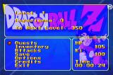 Dragon Ball Z: The Legacy of Goku Game Boy Advance Status screen