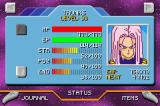 Dragon Ball Z: The Legacy of Goku II Game Boy Advance Status screen