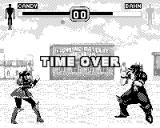 Fighters Megamix Game.Com Time over screen
