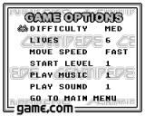 Centipede Game.Com Options. There are only 3 sound effects in the game!