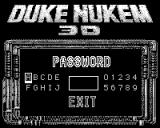 Duke Nukem 3D Game.Com Enter Password