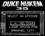 Duke Nukem 3D Game.Com Episode Select