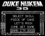 Duke Nukem 3D Game.Com Skill Level