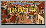 Rome: Pathway to Power DOS European title screen (Rome AD 92)