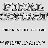 Final Combat Supervision Title screen.
