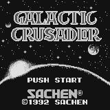 Galactic Crusader Supervision Title screen.