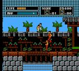 The Karate Kid NES An enemy jumps on top of another enemy...
