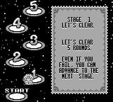 Bust-A-Move 3 DX Game Boy Challenge mode instructions.
