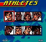Carl Lewis Athletics 2000 Game Boy Color Character selection