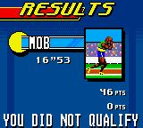 Carl Lewis Athletics 2000 Game Boy Color The result is not as great as expected. The played mode was arcade - if he had qualified, we would have participated in the next discipline.