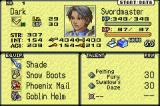 Tactics Ogre: The Knight of Lodis Game Boy Advance Status screen