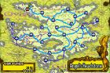 Tactics Ogre: The Knight of Lodis Game Boy Advance Map of the country