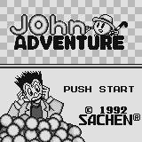 John Adventure Supervision Title screen.