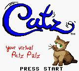 Catz Game Boy Color Title screen