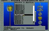 Walls of Rome DOS Battle Selection