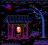 Zombie Nation NES A disembodied head awakes from the temple