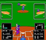 Nantettatte!! Baseball NES Players on base are visible at the pitch.