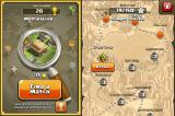 Clash of Clans iPhone Campaign map
