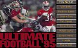 Ultimate Football '95 DOS Main menu