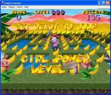 Lady Cruncher Windows The start of a game. The game can be played in a window or full screen.