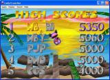 Lady Cruncher Windows The high score table can only handle three characters. These are selected by scrolling through the alphabet via the up/down keys in each position