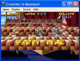 Cruncher in Mazeland Windows The game can be run in a window or full screen. This is a maze in Fantasy Land
