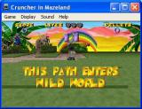 Cruncher in Mazeland Windows This is the path selection screen