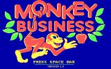 Monkey Business DOS Title screen (CGA)