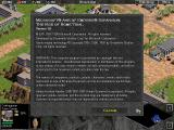 Age of Empires: The Rise of Rome (Demo Version) Windows Version information screen.