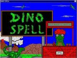 Dino Spell Windows This is the screen that displays when the game loads
