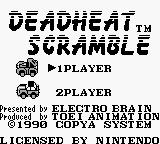 Dead Heat Scramble Game Boy Title screen