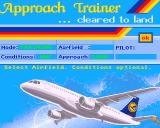 Approach Trainer Amiga Here we can set the parameters for the flight.