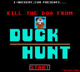 Kill the Dog from Duck Hunt Browser Title screen