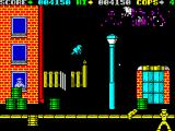 Cop-Out ZX Spectrum Level 1, the bi-plane explodes and gives you 1000 points, shoot birds for 150 points.