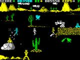Cop-Out ZX Spectrum Level 2, a shoot out in the desert. Hit detection is a little flaky when shooting certain enemies.