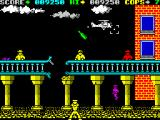 Cop-Out ZX Spectrum Level 3, it's supposed to look like a broken rail road. The enemies at the bottom are tricky.
