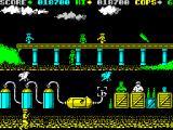 Cop-Out ZX Spectrum Level 6, some kind of fuel depot. Birds are actually the easiest to shoot.